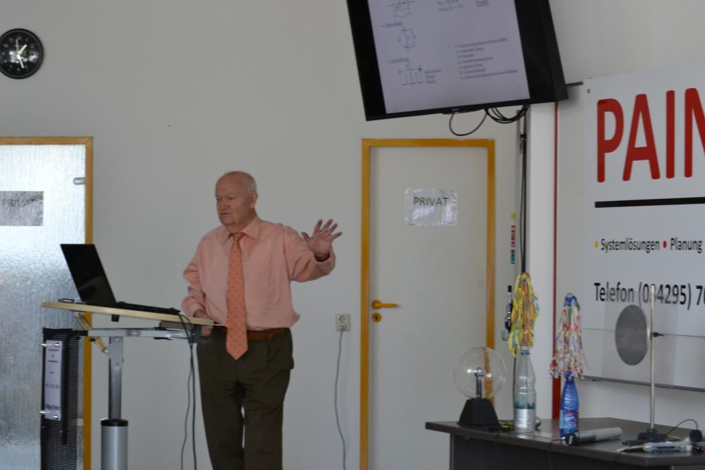 Das war ein interessanter Vortrag über Elektrostatik.
